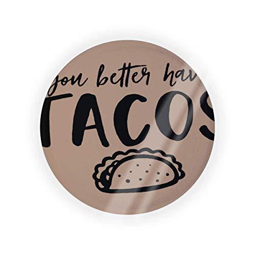 You Better Have Tacos - Caja de cojín de aire para maquillaje (vacío, bolsa de maquillaje, BB CC, líquido), color crema