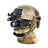 WLOWS Gafas de visión Nocturna Digital infrarroja Telescopio Pantalla de visualización Grande con un Casco y volquete para Caza, espía, Militar, táctico, Seguridad,Night Vision Goggles Set