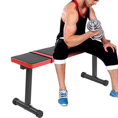 Banco plano para entrenamiento de pesas, banco de fitness Bench, banco para levantamiento de pesas y entrenamiento