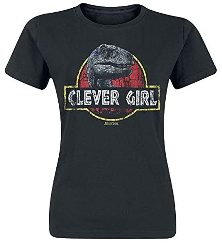 Jurassic Park Clever Girl Frauen T-Shirt schwarz S 100% Baumwolle Fan-Merch, Filme