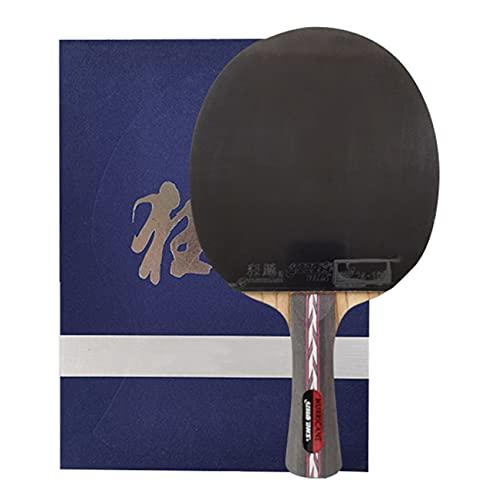 SGAIYUNRT Cuchillas de Tenis de Mesa de Alta Elasticidad, Paleta de Ping-Pong Antideslizante con Estuche de Almacenamiento/como se Muestra/Mango Largo