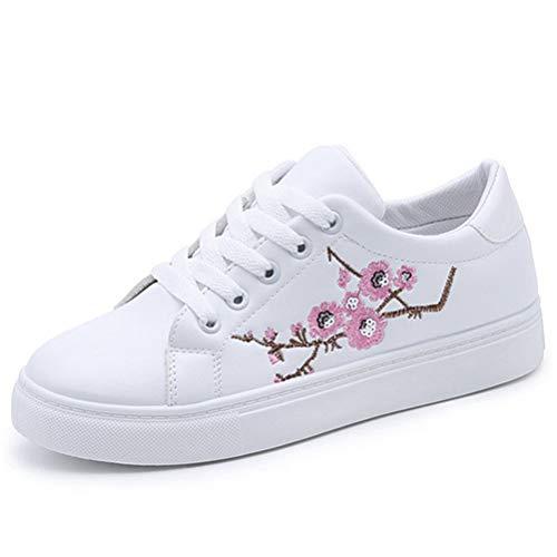 Flache Schnürschuhe Turnschuhe Frauen Casual Sport Bestickt Atmungsaktive Sportschuhe Niedrige Sneakers Frühling Herbst Vulkanisieren Schuhe