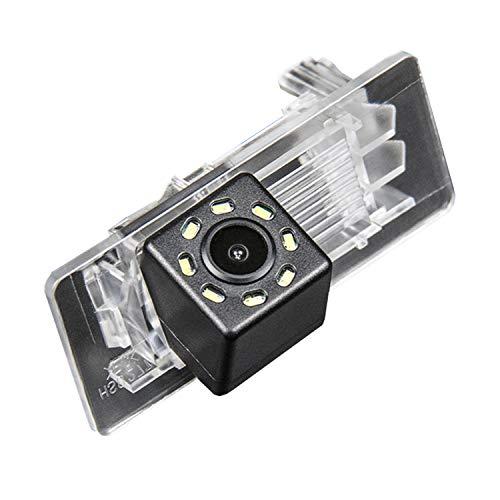 HD 720p Farb Rückfahrkamera integriert in die Kennzeichenbeleuchtung Kamera Einparkhilfe mit Distanzlinien für VW Polo Sedan/SEAT Alhambra Skoda Octavia A7 Skoda Yeti Rapid 2011-2016