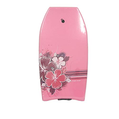 "Nalu Bodyboard with Leash 33"" Body Board with Crescent Tail and XPE Core Pink"
