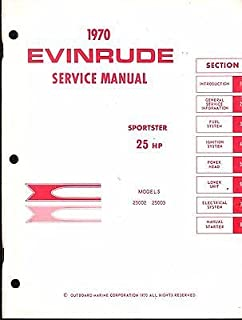 1970 EVINRUDE OUTBOARD MOTOR SPORTSTER 25 HP SERVICE MANUAL (215)