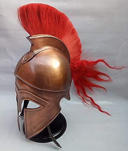 Greek Corinthian Armor Helmet Plume Helmet Corinthian Armor Handcrafted Greek Corinthian Helmet Wearable Armor in Steel Wearable Greek Corinthian Armor Helmet by NAUTICALMART