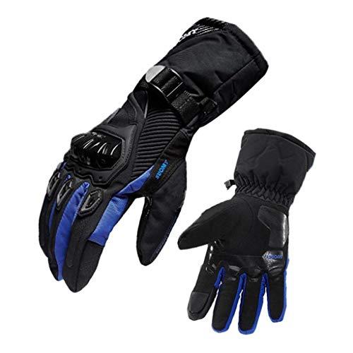 P Prettyia Guantes de Moto Guantes de Ciclismo Guantes Cálidos de Invierno Pantalla Táctil - Azul m
