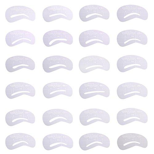 Larcele 24 Pièces 6 Sets Sourcils Shaping Pochoirs HMK-01