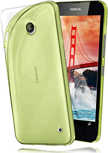 MoEx Cover Trasparente Compatibile con Nokia Lumia 630/635   Anti-Scivolo ed Extra Sottile, Verde