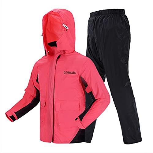 Chubasquero multifuncional a la moda, chubasqueros para mujer se pueden reutilizar, impermeables y pantalones de lluvia (color: rojo sandía, tamaño: M)