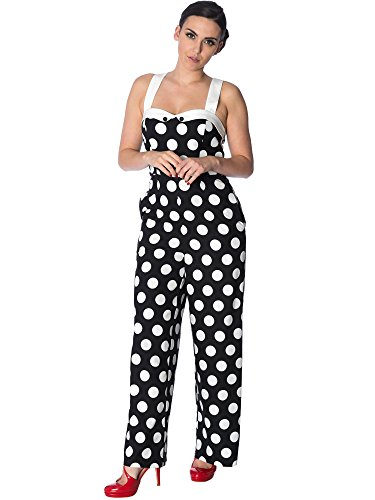 Dancing Days by Banned Jumpsuit Dotty About You Playsuit 8053 Schwarz XS
