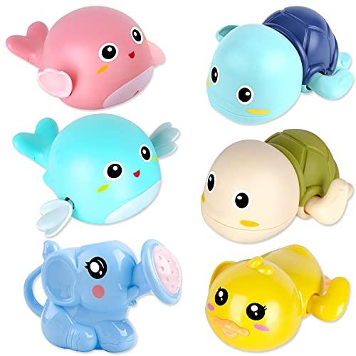 FAYOGOO Baby Bath Toys for 1-5 Year Old Boy Girls Gifts Swim Pool Bath Toys for Toddler 1-3 Bathtub Toys for Baby Boy Birthday Gifts for 1-4 Year Old Boys Girls, 6pcs Set