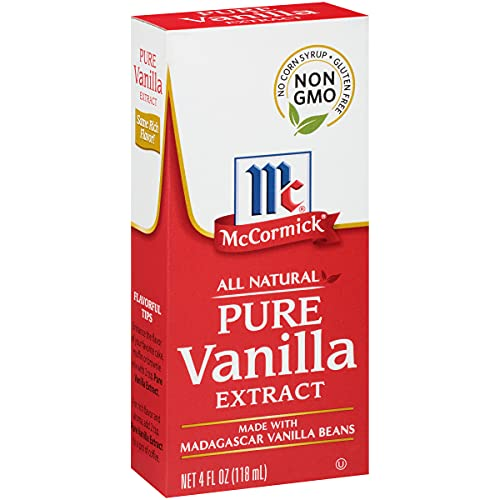 McCormick All Natural Pure Vanilla Extract, 4 Fl Oz (Pack of 1)