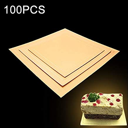 New Kitchen Appliance 100 PCS Square Cake Cardboard Pad Golden Cake Mousse Cake Mat, Size: 16 x 16cm Kitchen Tool