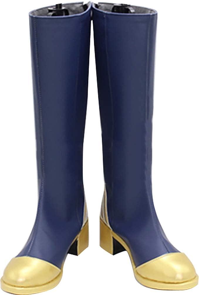 MINGCHUAN Whirl Cosplay Boots Shoes for Touken Ranbu Nakigitsune Blue