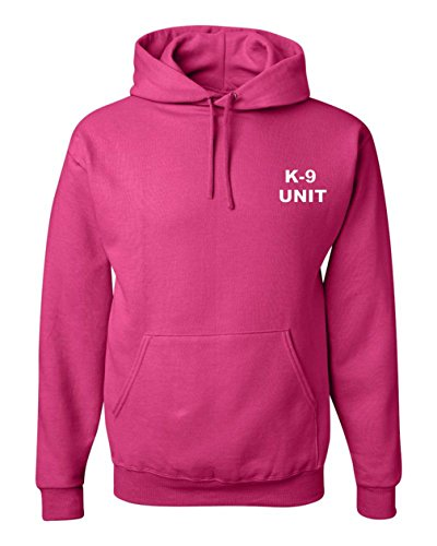 Got-Tee- K-9 Unit Poice Duty K9 Hoodie/Sweatshirt - Two Sides Print (L, Pink)