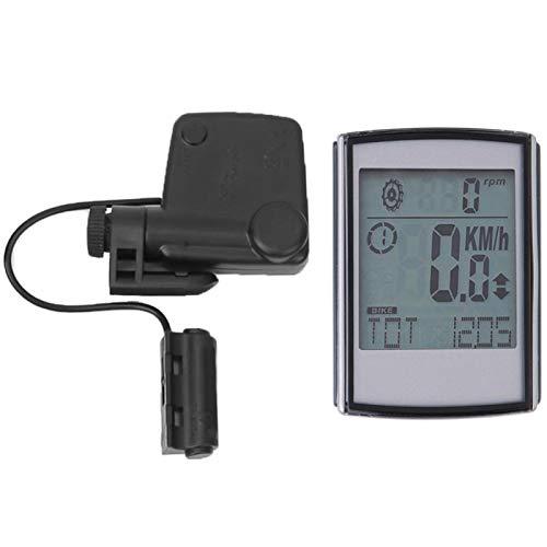 DAUERHAFT Tabla de códigos inalámbrica para Bicicletas 2 en 1 Tabla de códigos de Bicicletas multifunción Función de activación automática, con Sensor de frecuencia de Pasos inalámbrico, Apto para la