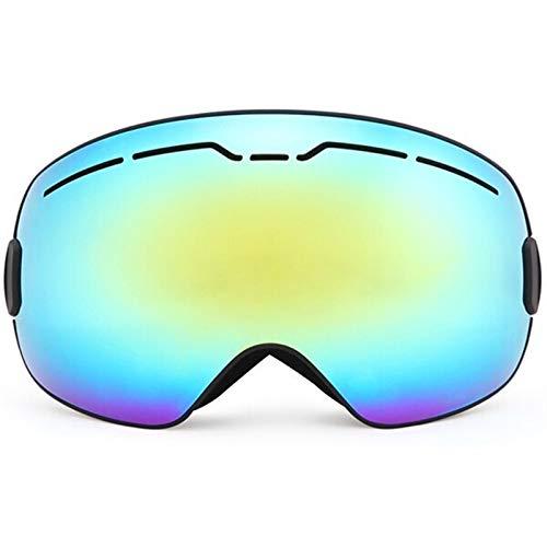 Gafas de esquí para deportes al aire libre, para invierno, deportes de nieve, snowboard, doble capa, antivaho, gran esquí, patinaje, hombres y mujeres (color: marco negro)