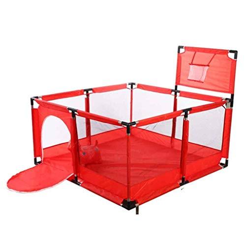 Bébé Parcs Tente de Parc d'enfant d'enfants pour Jouer à l'intérieur ou à l'extérieur de la Fosse de Boule sûre Rampant 126x126cm (Color : Red)