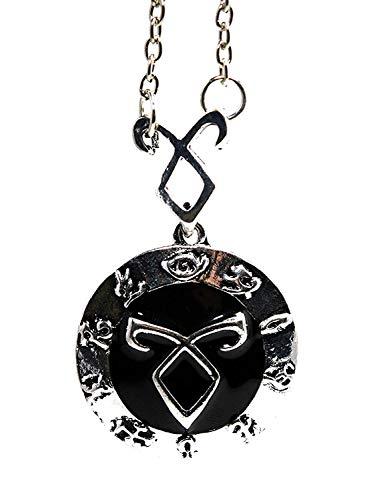 Collar con colgante en forma de runa inspirado en la serie Shadowhunters – The Mortal Instruments y du Fray con funda revestida de sexy