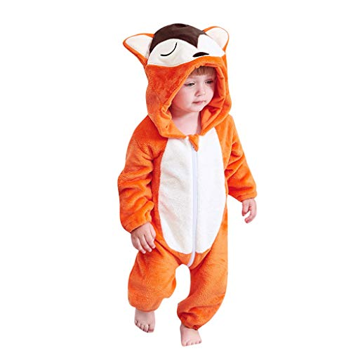 Buy Bargain Newborn Baby Girls Boys Hoodie Jumpsuit Fineser Toddler Long Sleeve Cartoon Animal Hoode...