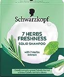 Schwarzkopf - Champú Sólido 7 Herb Freshness - 60g - Proporciona un ligero frescor y un suave cuidado para tu cabello sin cargarlo
