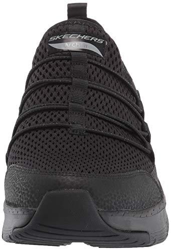 Skechers Arch Fit, Zapatillas Mujer, Negro (Black Mesh/Trim BBK), 37 EU