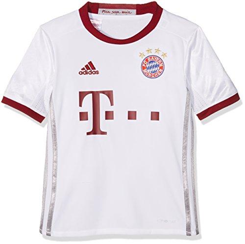 Adidas Jungen FC Bayern München UCL Trikot, White/Light Onix/Collegiate Burgundy, 140