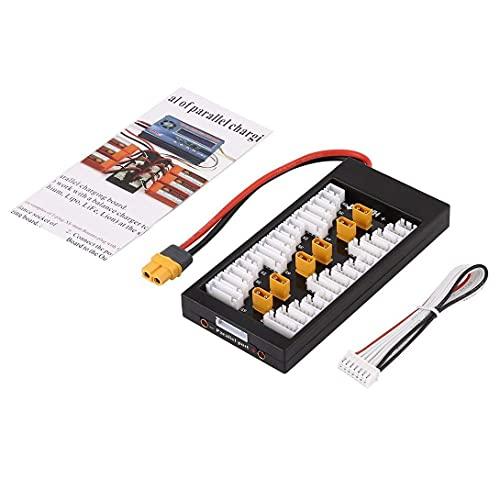YNSHOU Accesorios de Juguete Placa de Carga paralela de batería Lipo 2S-6S 40A con Conector XT60 para Cargador de batería RC Quadcopter