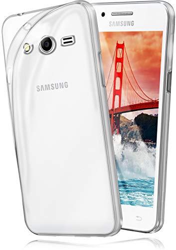 moex Aero Hülle kompatibel mit Samsung Galaxy Ace 4 - Hülle aus Silikon, komplett transparent, Klarsicht Handy Schutzhülle Ultra dünn, Handyhülle durchsichtig einfarbig, Klar