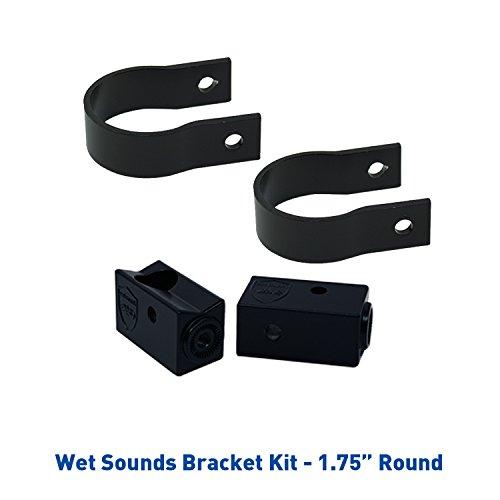 "Wet Sounds Stealth Mounting Bracket Kit - Slider Bracket and Round 1.75"" Tube clamp"