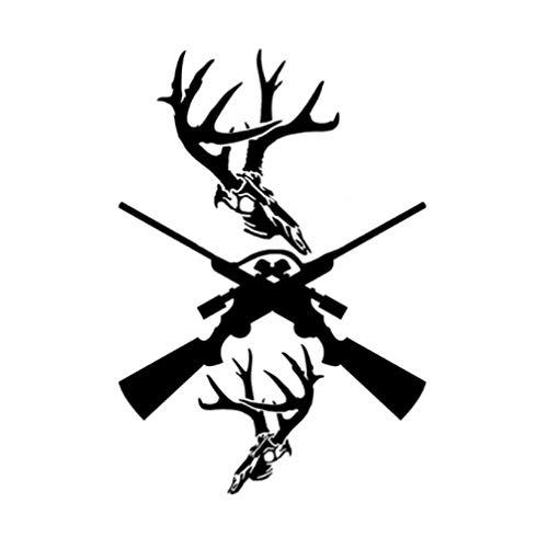 GenericBrands 3 Piezas Pegatina para Coche 12,4 * 18 CM Interesante Pistola de Caza Vinilo Pegatina para Coche gráfico Negro
