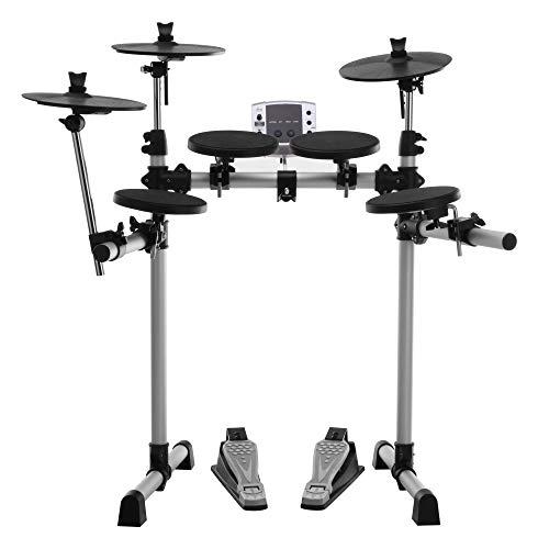 XDrum DD-400 E-Drum Set (Komplettes Schlagzeug, 4 Drum Pads, 3 Cymbal Pads, Sound Modul mit 180 Sounds, 10 Preset Kits, 40 Preset Songs, USB, MIDI)