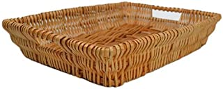 RURALITY Rectangular Wicker Storage Basket for Home, Shops or Markets