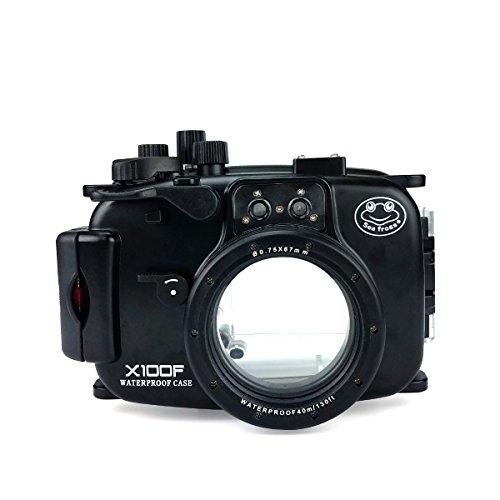 Unterwasser-Kamera-Gehäuse für Fujifilm X100F, 40 m, wasserdicht, Gehäuse + Rotfilter