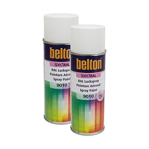 Kwasny 2 x 324 190 Belton Spectral Vernis en spray RAL 9010 Blanc brillant 400 ml
