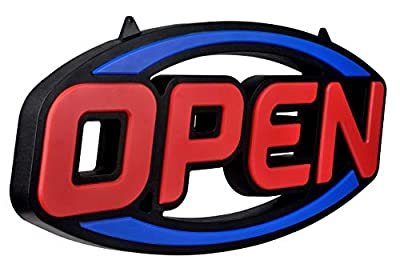 """GreenCube 32"""" X 16"""" Ultra Bright Extra Jumbo LED Neon Open Sign - Remote Controlled - Get Your Business Seen Day or Night"""