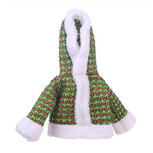 Kaned Funda para botella de vino de Navidad, para decoración de Navidad, suministros de fiesta, verde