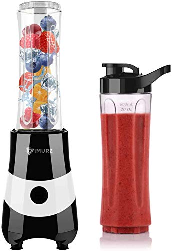 Personal Blender & Smoothie Maker Small Blender Juicer with 2x20 oz Bottle and 6 Stainless Steel Blades, 350W [ Upgraded Version ]
