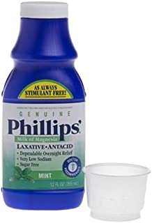 Phillips' Genuine Milk of Magnesia, Fresh Mint, 355ml