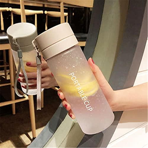 ZHOUSAN 800 ml/600 ml bottiglia di acqua di grande capacità bottiglie di acqua sport viaggio trasparente opaco portatilefrutta succo di limone bere infusore