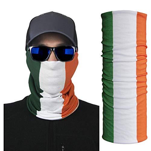 International Tie Ireland/Irish Bandana – Face Mask: Soft & Breathable Material Multi-Functional Neck Gaiter, Balaclava, Sunmask or Headband