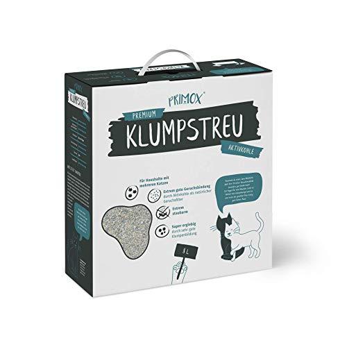 Primox 360627 Premium Klumpstreu Mit Aktivkohle - Klumpende Katzenstreu Im 8 L Karton