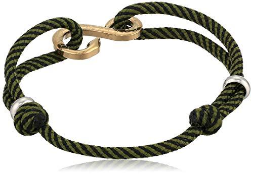 Fossil Serpent Gold-Tone Stainless Steel Station Bracelet, Length: 216mm