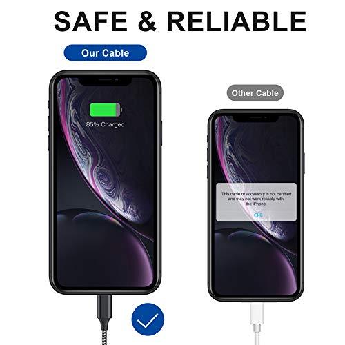 AVIWIS Phone Ladekabel [4Stück 0.3M 1M 2M 3M] Nylon USB Phone Ladekabel Schnellladekabel Kompatibel für Phone 11 11 Pro 8 8 Plus 7 7 Plus 6 6S 6S Plus 5S 5