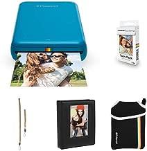 Polaroid Zip Mobile Photo Mini Printer (Blue) with Extra Paper, Album, Case, Colorful Neck/Hand Strap