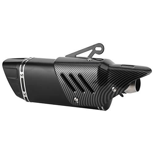Excelente tubo de escape de escape de motocicleta silenciador de punta de escape tubo de cola exquisito sistema de escape de motocicleta plata delicado para coche