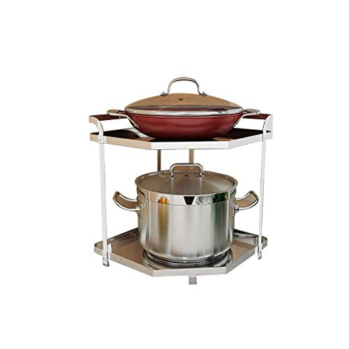 Estante Para Macetas Estanterías Almacenaje Cocina Cocina Estante Para Macetas Estante Cocina304 Esquina De Acero Inoxidable Estante Para Macetas Estante Para Macetas Multicapa Accesorios Cocina L20.0