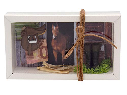 ZauberDeko Geldgeschenk Verpackung Reiten Pferd Pferdestall Stall Ponyhof Gutschein