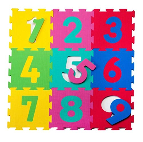 Baby to Love 350154 - Alfombra de juego y gimnasio, diseño Puzzles con Números